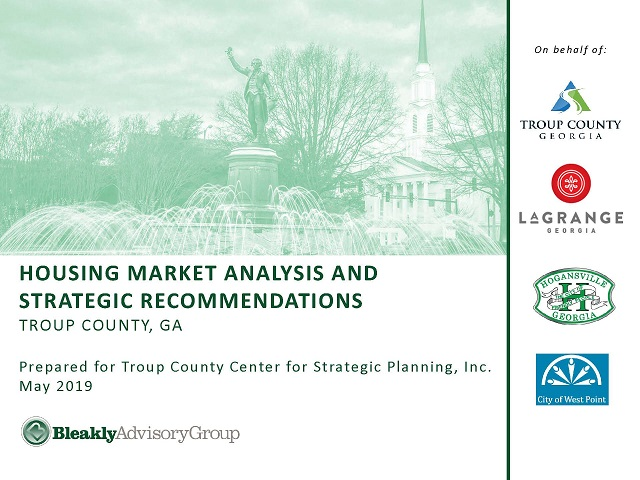 Troup County Housing Market Analysis & Strategic Recommendations - Cover Photo for Slides